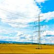 Electricity tower in field — Stock Photo