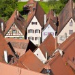Romantic Dinkelsbühl, city of late middleages and timbered hous — Stock Photo #5684912