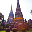 Temple of Wat Yai Chai Mongkol in Ayutthaya near Bangkok, Thaila - Stock Photo