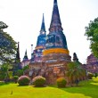 Stock Photo: Temple of Wat Yai Chai Mongkol in Ayutthaynear Bangkok, Thaila