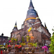 Stock Photo: Temple of Wat Yai Chai Mongkol in Ayutthaya