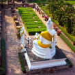 Buddhstatues at temple of Wat Yai Chai Mongkol in Ayutthay — Stock Photo #5686688