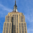 Facade of Empire State building in New York — Stock Photo #5688678