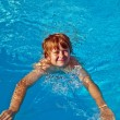 Child has fun in the pool — Stock Photo #5689803