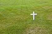 Modesto túmulo de robert kennedy no cemitério nacional de arlington, ar — Foto Stock