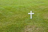 Skromný hrob roberta kennedyho v arlingtonu národní hřbitov, ar — Stock fotografie