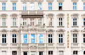 Facade of hotel — Stock Photo