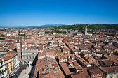 Verona ve torre dei lamberti dağları panoraması — Stok fotoğraf