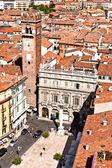 Torre dei Lamberti in Piazza delle Erbe, Verona — Stock Photo