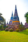 Temple of Wat Yai Chai Mongkol in Ayutthaya near Bangkok, Thaila — Stockfoto