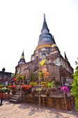 Temple of Wat Yai Chai Mongkol in Ayutthaya — Stock Photo