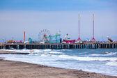 Amuesment park in stalen pier atlantic city, nj — Stockfoto