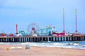 Amuesment Park at Steel Pier Atlantic City, NJ — Foto Stock