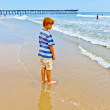 Boy walking on the beach — Stock Photo #5690000