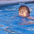 Child has fun in the outdoor pool — Stock Photo #5690775