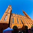 Famous Markt Kirche in Wiesbaden, a brick building in neo-Gothic — Stock Photo #5691120