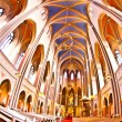 Famous gothic Markt Kirche from inside - Stock Photo