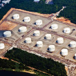 Tankfarm in Newark near New York - Stock Photo