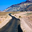 driving on the interstate 187 in death valley direction badwater — Stock Photo