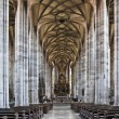 Medieval church of St. Georg in Dinkelsbuehl from inside - ストック写真