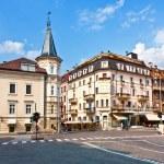 Street view of meran italian alps town — Stock Photo #5696053