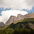 View to the Karer pass in the dolomite alpes — Stock Photo #5696182