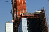 Skyskrapa under konstruktion — Stockfoto