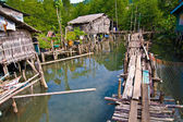 In a fisher village in the mangroves — Stock Photo