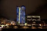 Toren in wenen bij nacht in mooie verlichting — Stockfoto