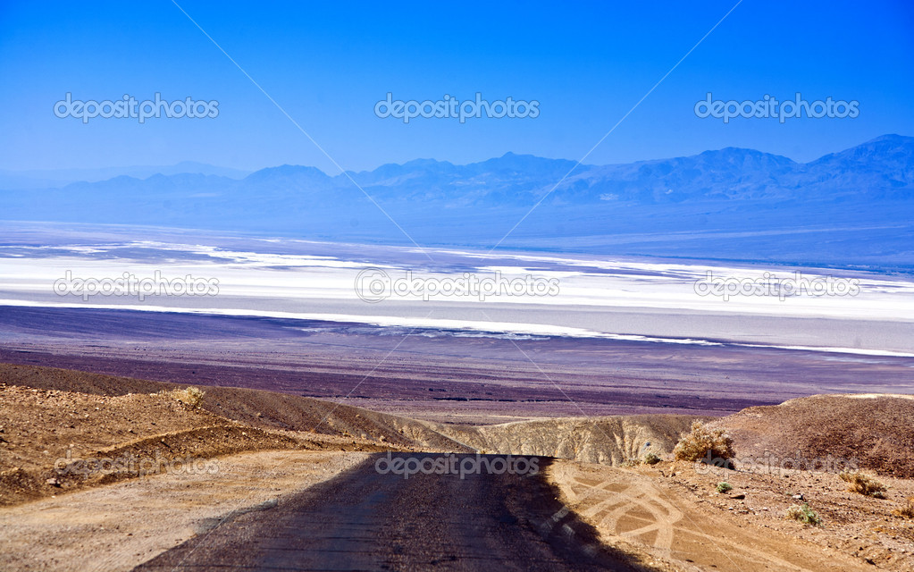 Landscape over Death Valley with street — Stock Photo #5694321