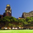 Bryant Park in New York at night — Stock Photo #5702428