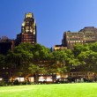 Bryant Park in New York at night — Stock Photo
