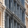 Facade at old houses downtown in New York — Stock Photo