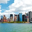 New York City panorama with Manhattan Skyline over Hudson — Stock Photo