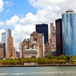 New York City panorama with Manhattan Skyline over Hudson - Stock Photo