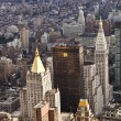 Aerial view over upper Manhattan from Empire State building top — Stock Photo #5703115