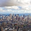 View over Manhattan and skyscraper - Stock Photo