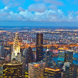 New York by night from Empire State Building — 图库照片