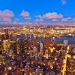 New York by night from Empire State Building — Stock Photo