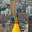 Aerial panoramic view over upper Manhattan from Empire State bui — Stock Photo #5703614