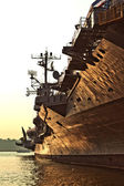 Aircraft carrier as museum in New York — Stock Photo