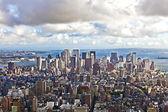 View over Manhattan and skyscraper — Stock Photo