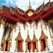 Stock Photo: Temple Wat Thewarat at river Mae Nam Chao Phraya