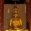 Monastery Wat Na Phramane in Ajutthaya with famous gold buddha a - Stock Photo