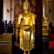Monastery Wat Na Phramane in Ajutthaya with famous buddha statue - Stock Photo
