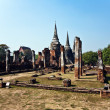 Famous temple area Wat Phra Si Sanphet, Royal Palace in Ajutthay - Stock fotografie