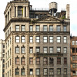 High older brick buildings in New York — Stock Photo