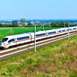 High speed train in open area — Stock Photo #5715533