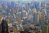 Visa till horisonten av bangkok från en skyskrapa — Stockfoto