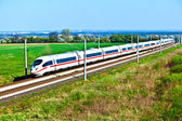 High speed train in open area — Stock Photo